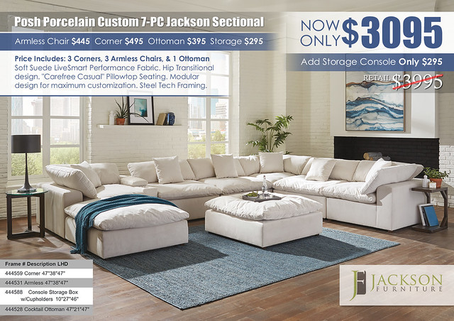Posh Porcelain Jackson Furniture 7-PC Custom Sectional_4445_2021