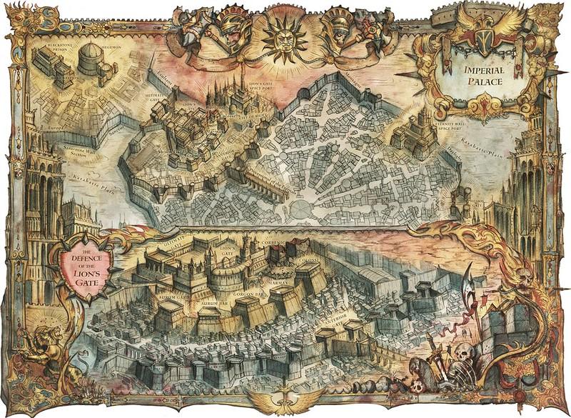 «Осада Терры: Сатурнин», карта-иллюстрация | The Siege of Terra: Saturnine, map artwork