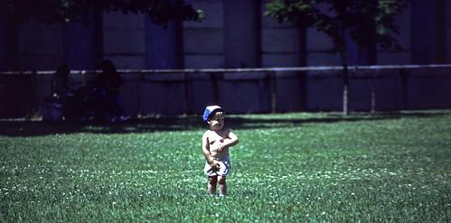 Little Boy At A Park