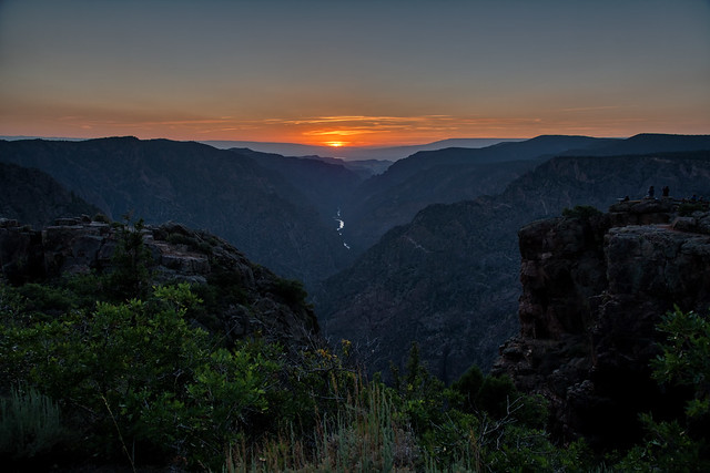 A Long and Beautiful Sunset (Black Canyon of the Gunnison National Park)