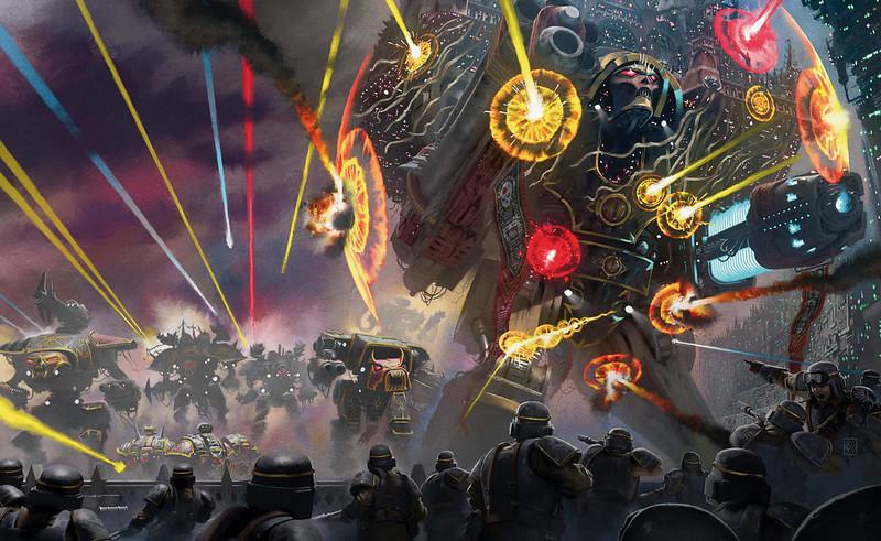 «Осада Терры: Мортис», рисунок обложки | The Siege of Terra: Mortis, cover artwork