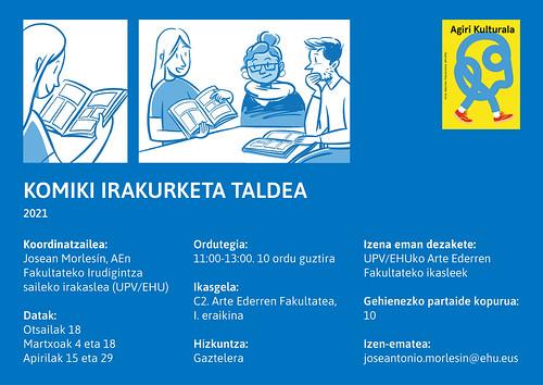 cartel grupo lectura comic 2021_EUSK