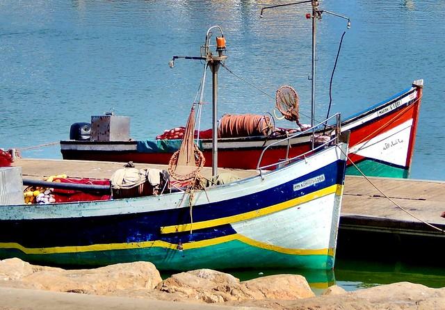 Fishing boats in Rabat, Morocco