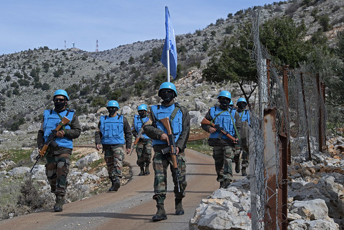 Indian peacekeepers on foot patrol with LAF | by UNIFIL - United Nations Interim Force in Lebanon