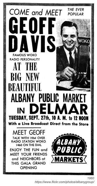 1960 geoff davis albany public market -Delaware Ave.
