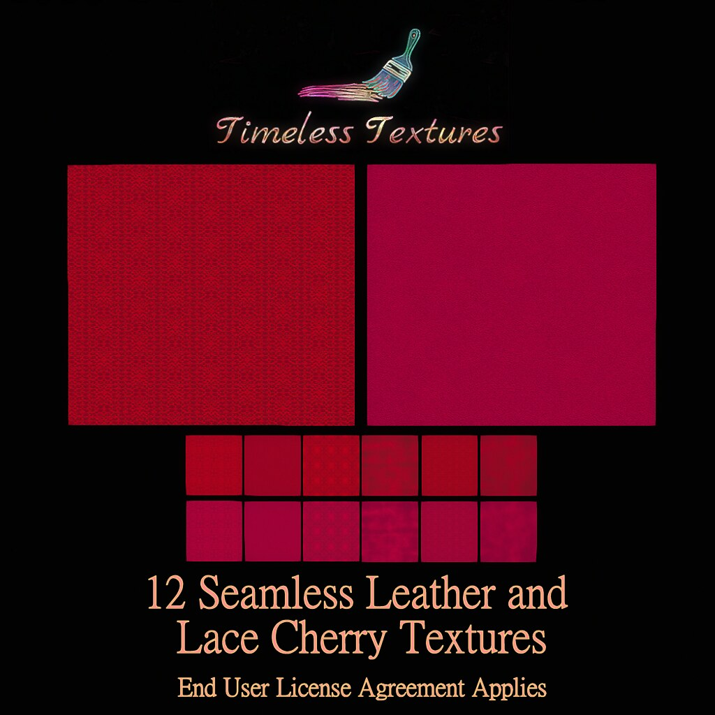 TT 12 Seamless Leather and Lace Cherry Timeless Textures