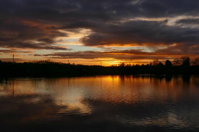 Butterley Reservoir Sunset. 03/02/2021.