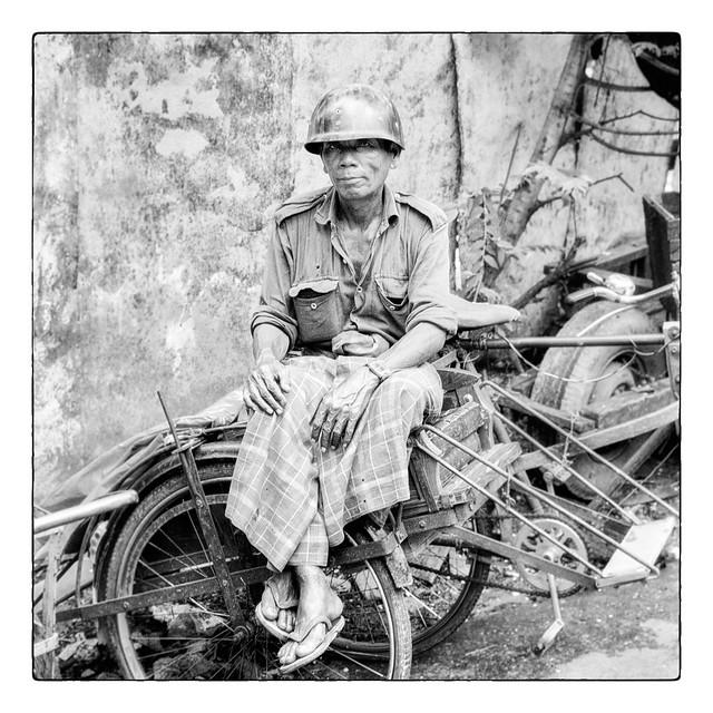 Le rickshaw de Yangon