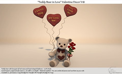 """""""Teddy Bear in Love"""" Valentine Decor V18 New for Shop and Hop Valentine Event"""