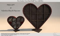 """Love Heart Shelf"" Valentine Decor FREE GIFT for Shop & Hop Valentine"