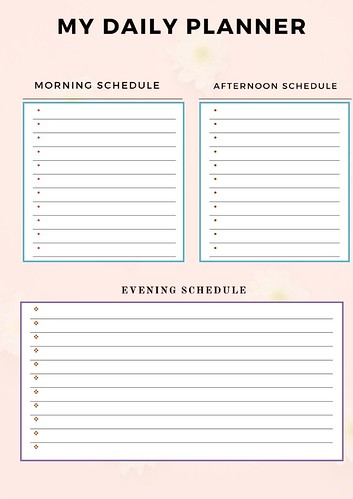Daily Planner Light Pink Color