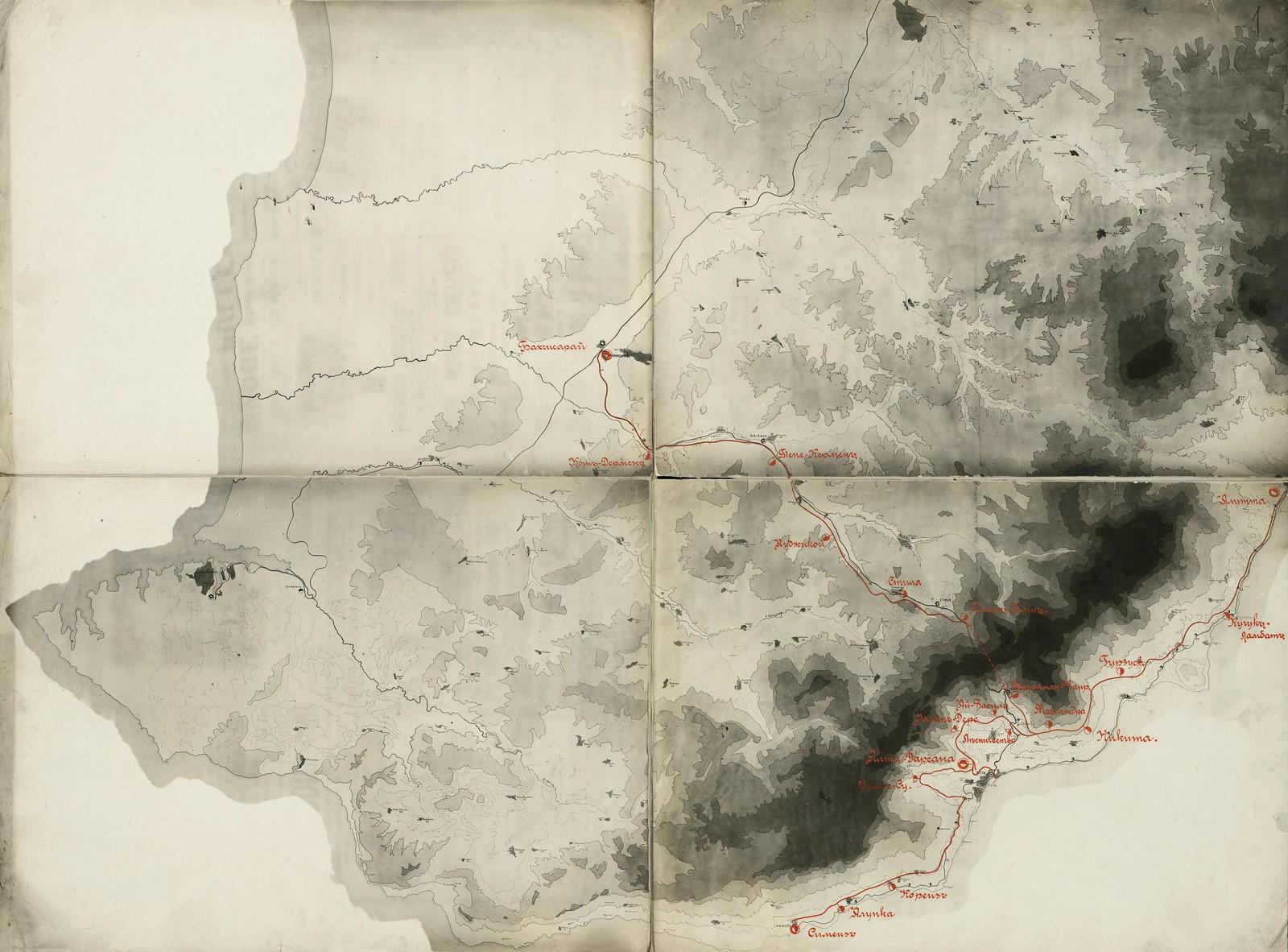 1909. Таврическая губерния. План электрических железных дорог в Крыму