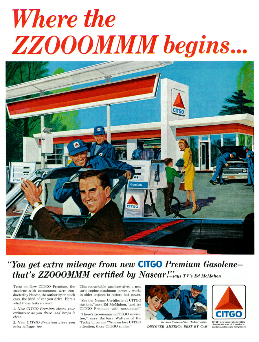 CITGO featuring Ed McMahon and Barbara Walters - published in The Saturday Evening Post - April 23, 1966