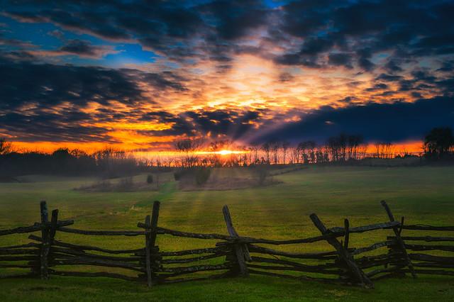 Battlefield sunset (Explored)