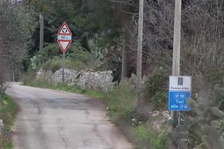Un tratto di via Noci