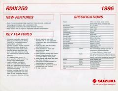 1996 Suzuki RMX250 Brochure Page 2