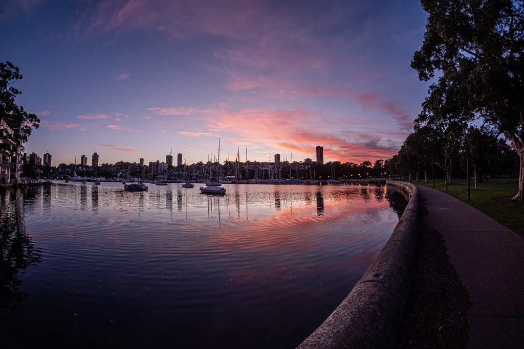 The thing about catching a glorious dawn is that you are usually by oneself, but I share with you Sydney's Rushcutters Bay.