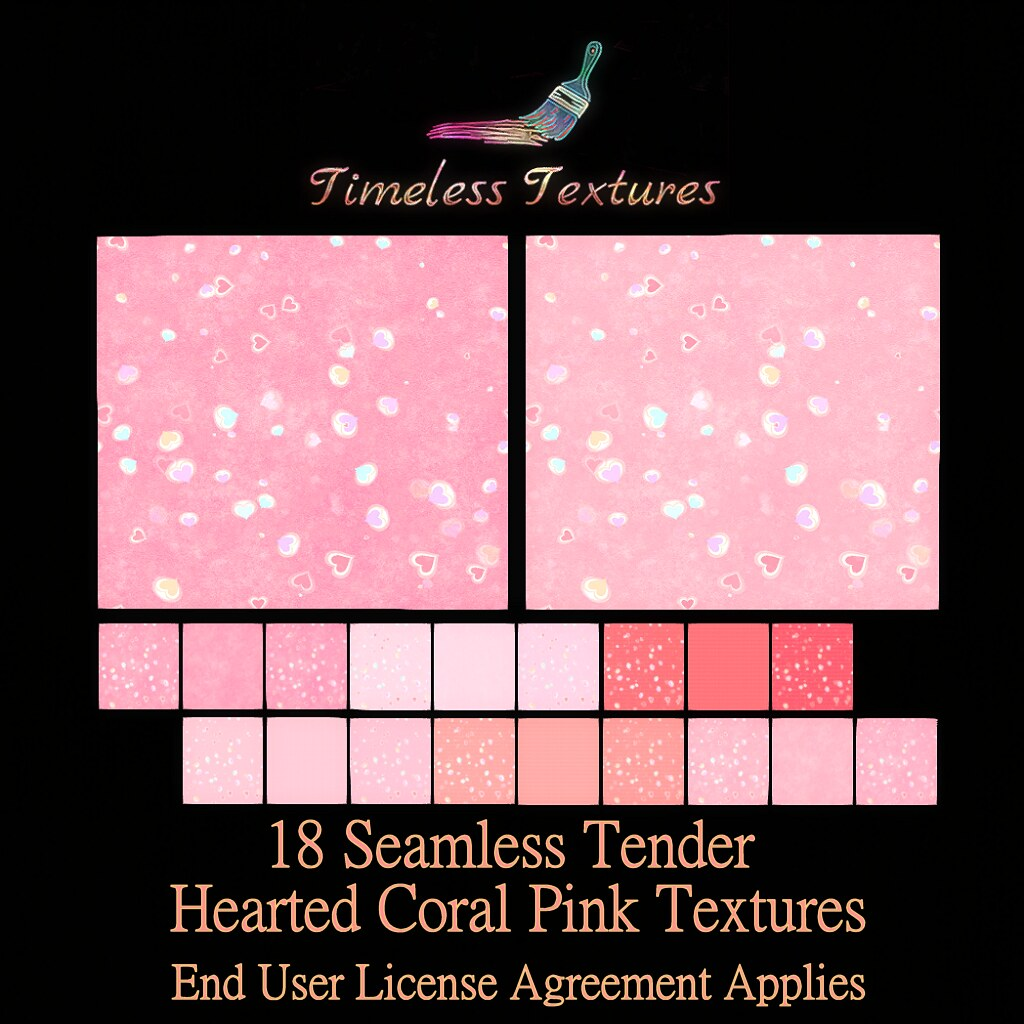 TT 18 Seamless Tender Hearted Coral Pink Timeless Textures