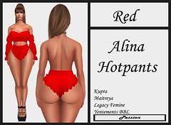 Passion-Alina-Hotpants-Red
