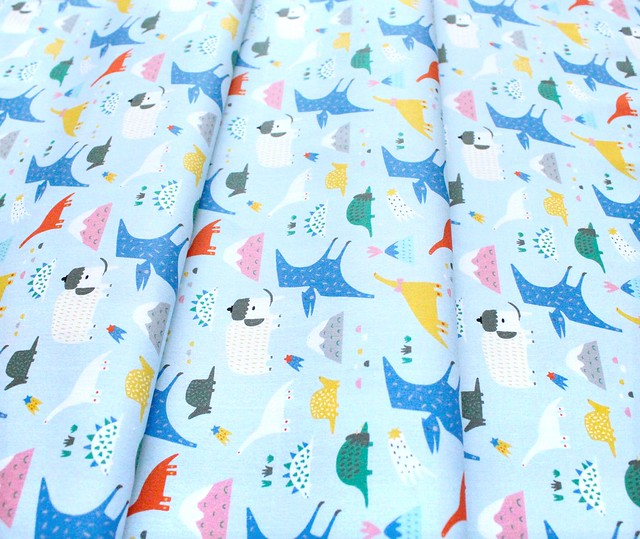 Paintbrush Studio Fabrics Animal Alphabet 120-21825 Dinosaurs