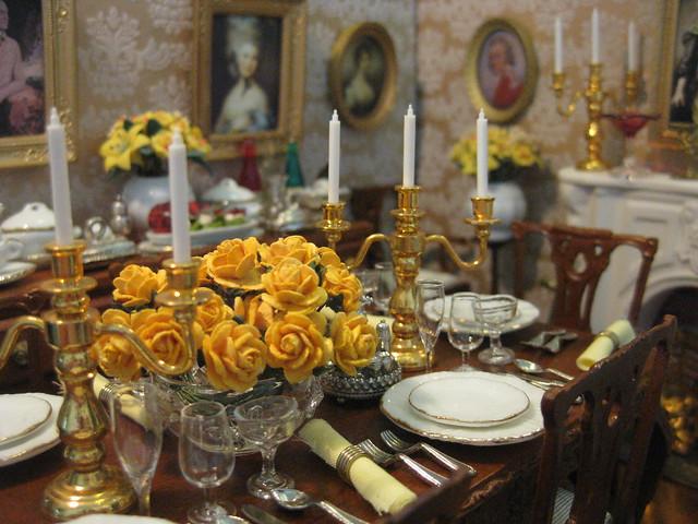 Dinner Amidst the Golden Opulence