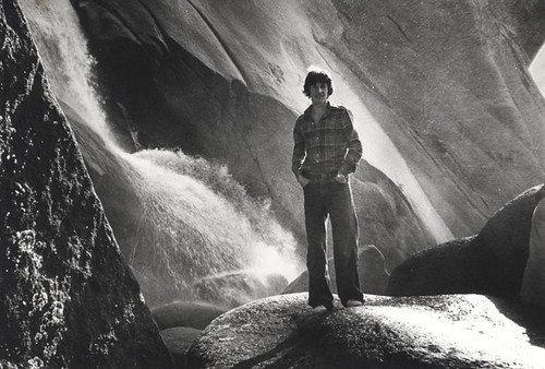 1977: Black and white photo of Shannon Falls, BC