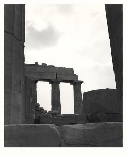 1978: B&W photo of the Parthenon in Athens, Greece