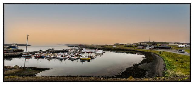 Panorama de puerto de Djúpivogur (ISLANDIA)-1