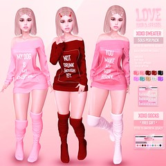 Love [XOXO Sweater & FREE GIFT] @ Second Life's Valentine Shop & Hop!