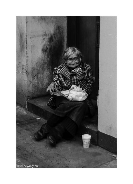 Bag Lady 1981 off Fleet Street ©