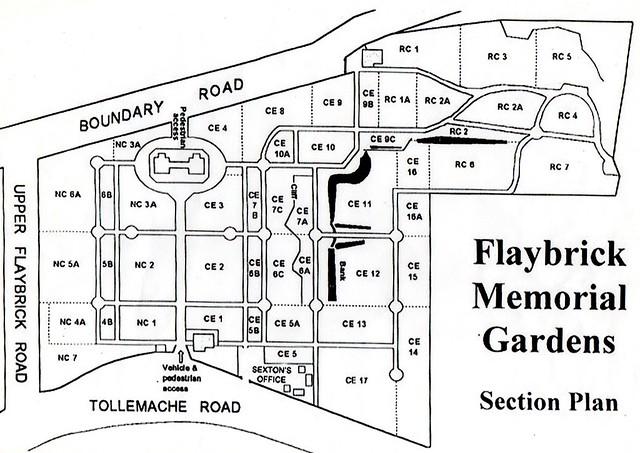 Flaybrick Memorial Gardens - section plan