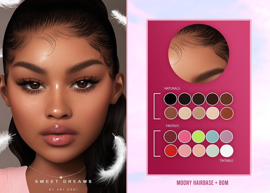 NEW RELEASE + GIVEAWAY – MOONY HAIRBASE @LEVEL EVENT