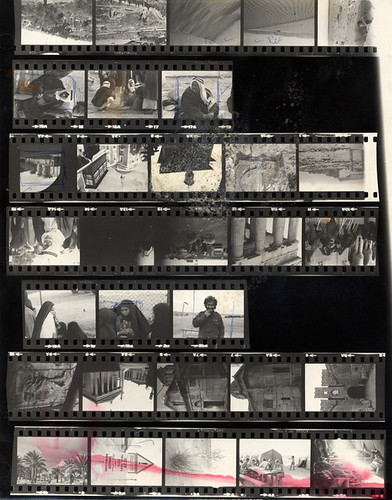 Contact sheet of black and white photos taking in Israel in 1979