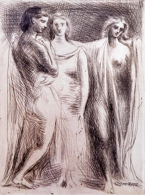 1925 The Three Women etching by Pablo Picasso (SBG) (edit)