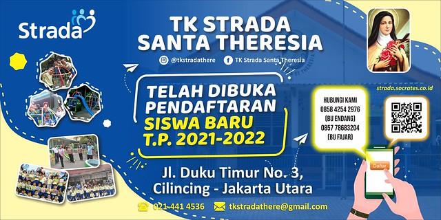 Penerimaan Murid Baru TK Strada Santa Theresia TP.2021/2022