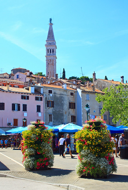 Market Day In Rovinj, Croatia.