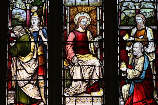 Stained Glass -St Dionysius Church - Market Harborough Leics -170819 (28)