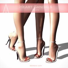 .AiShA. Heart Sandals White