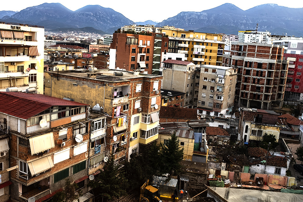 View from window on 2-5-21--Tirana