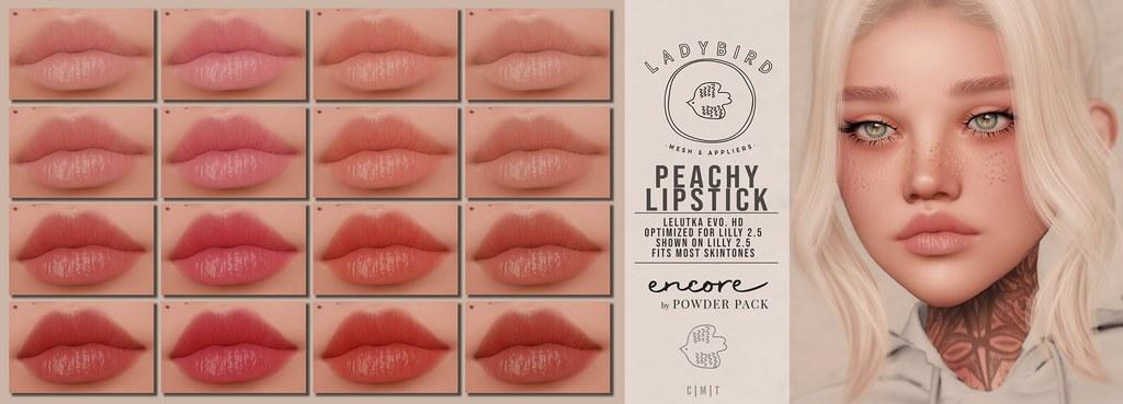Ladybird. // Peachy Lipstick for Powder Pack: Encore! ♥
