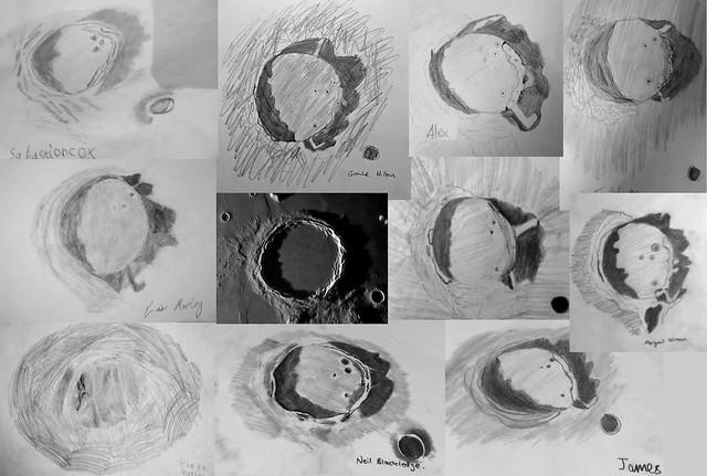 Zoom Lunar Sketching Collage!