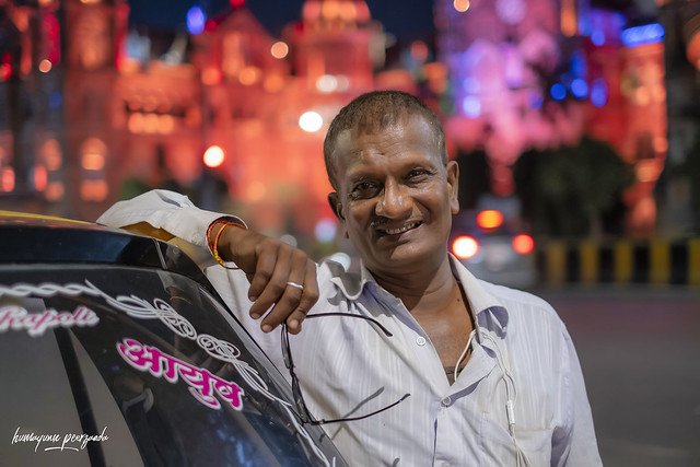 Ramachandra Vaishya | plies his own taxi or cab | CST Station, Mumbai 2021, Maharashtra - India | Fujifilm X-T3 with Fujinon XF35mmF1.4 R | Street Photography | Humayunn Peerzaada