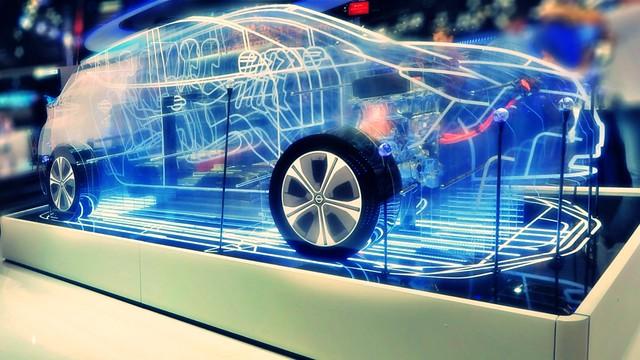 Car made of light