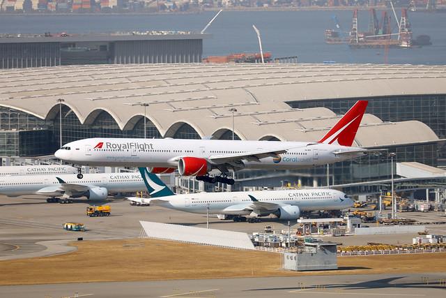 Royal Flight B777-300ER VQ-BGP arriving HKG/VHHH