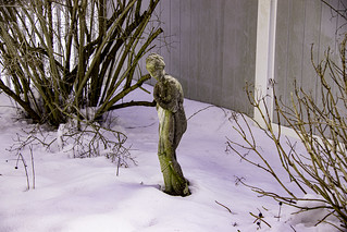 A cold Garden Lady on a snowy day in the gardens of Long Island | by bellrich1941