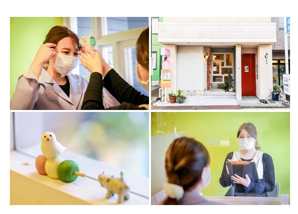 感染拡大防止策 来店時の検温とマスクでカウンセリング