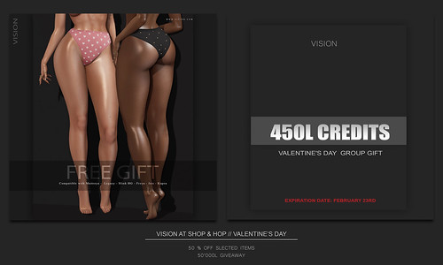 {ViSion} // Special Valentine's Day Sale, 450L Store Credit Group Gift, Giveaway and more.