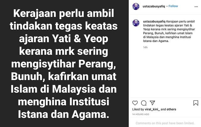 Penceramah Bebas Abu Syafiq Nak Saman Ibu Yati!