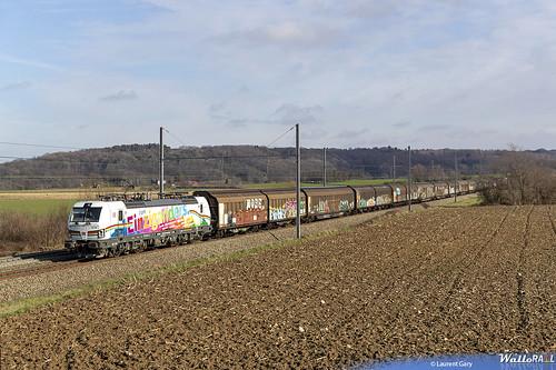 193 366 . DB Cargo . E 42500 . Warsage . 05.02.21. (Laurent Gary).