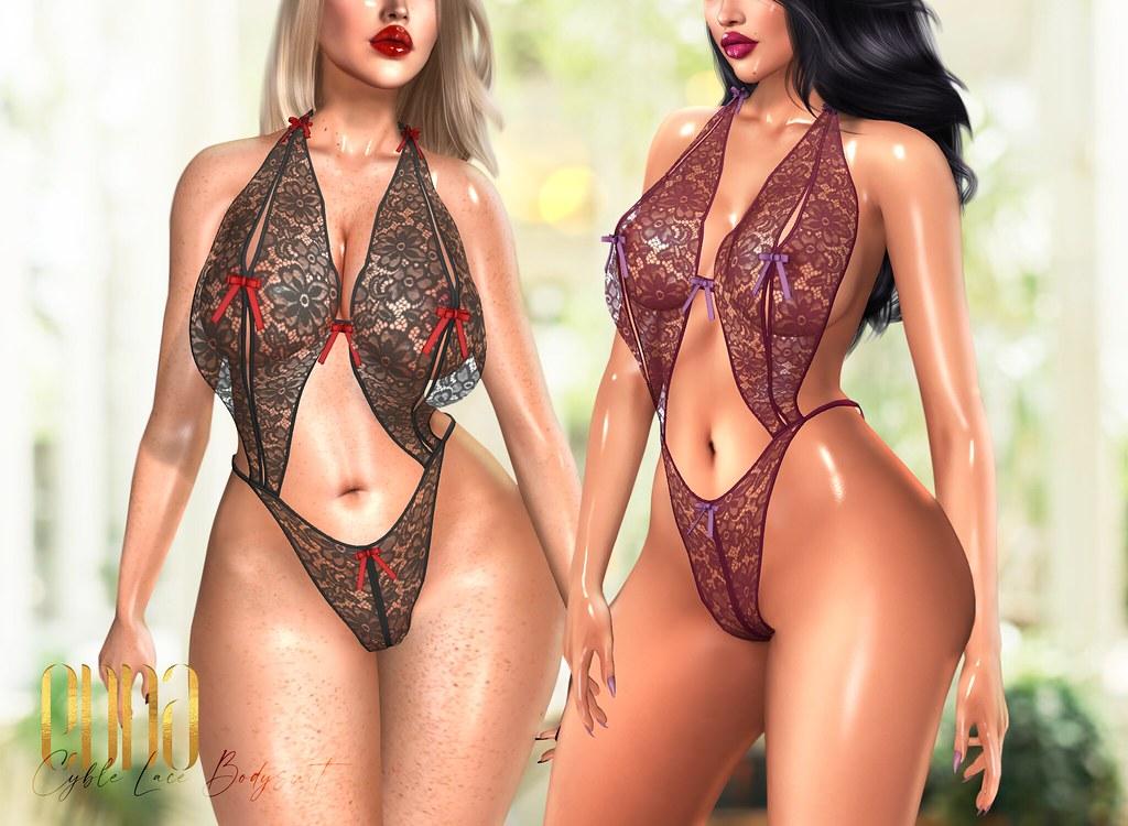 New Release@Cyble Lace Bodysuit